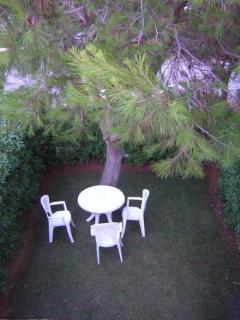 Jardín de frente de la casa