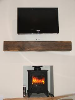 Watch the flat screen TV or the flames flickering in the fire place, the choice is your!