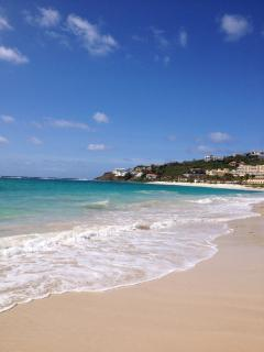 Local beachfront with simple on beach restaurant, shops and other restaurants walking distance.