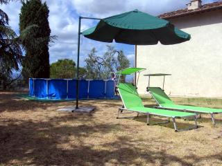 Garden with pool and sun loungers