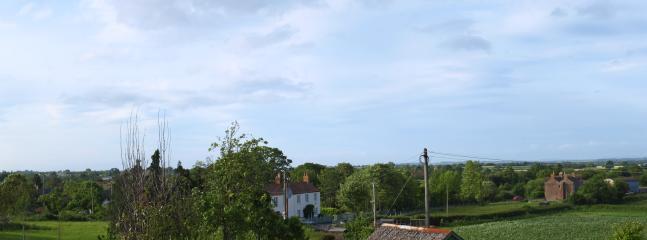 View across the hills towards Glastonbury