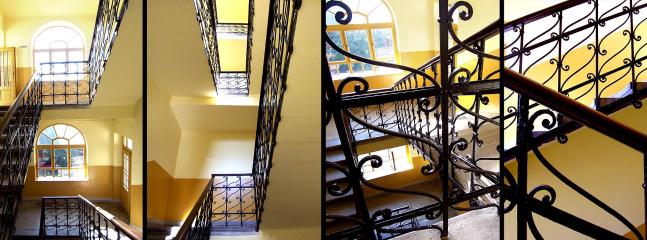 ...with a CLASSY STAIRCASE and AUTHENTIC FORMS.