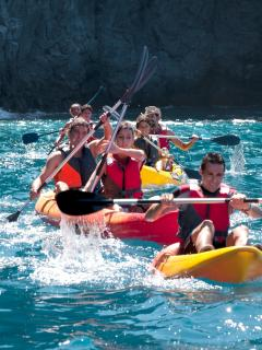 kayak excursion with dive club tenerife