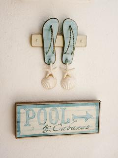 The pool's that way!