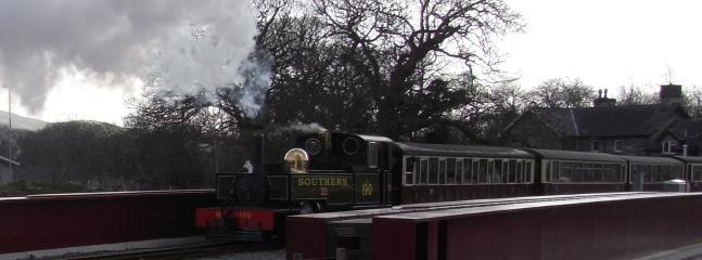 Ffestiniog Railway approaching Bronturnor crossing