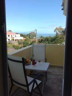 Private dining terrace studio 2 overlooking Indian Ocean