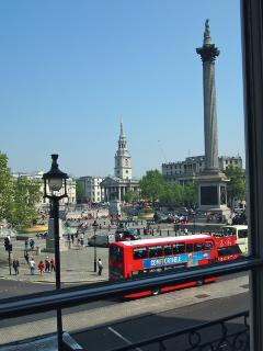 View from balcony with Nelson's Column