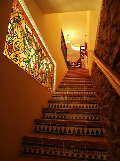 Escalera de subida a dormitorios