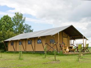 Luxury, furnished safari tents for 4 or 6 people