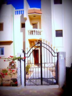 Rear of apartment and smallgarden