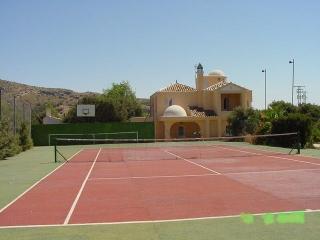 pista de tenis y baloncesto