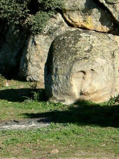 face in the rock on the finca