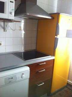 Kitchen: Fridge, freezer, heat induction hob