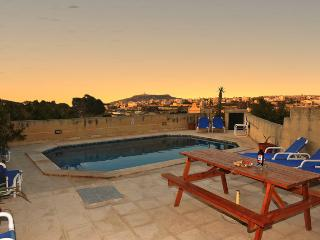 Pool, pool area and views of the nice sunset