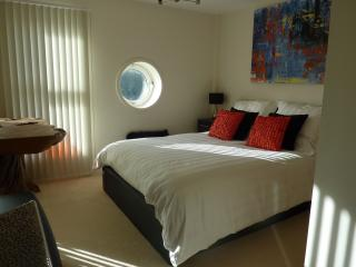 Master bedroom showing porthole