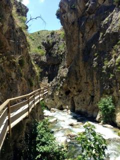 Castril. 28 km from the cave. Fabulous walks, picnic area and the most stunning scenery.!