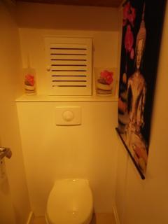 Le wc indépendant.