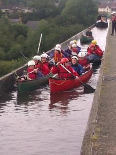 Kayaking over the Aqueduct