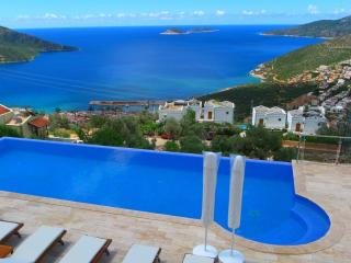 Stunning views over Kalkan Bay from the pool terrace