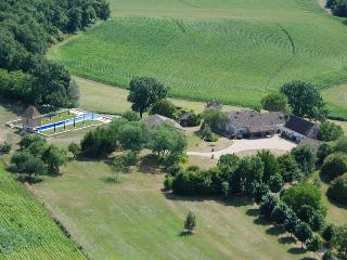 Aerial shot of the property - the cottage is detached from the owners house