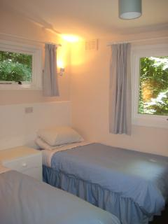 Full sized single beds in the twin room