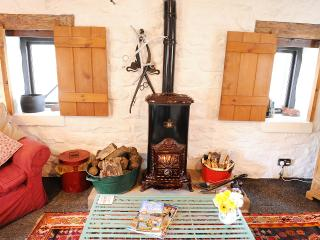 Wood burner in Threshing Barn