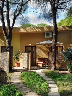 appartamenti a schiera con veranda privata e giardino comune