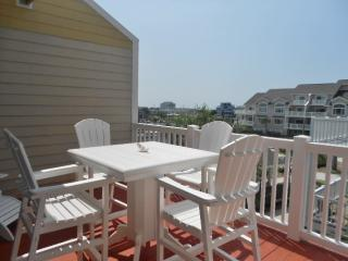 Great deck for sunning and dining while watching the boats cruise by.