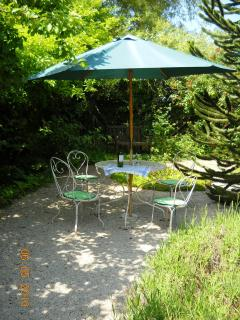 Shady table in the garden