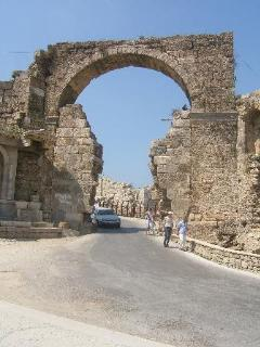 Ancient archway entry to Side Old Town