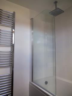 Bathroom with rain head shower