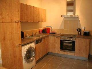 Fully fitted kitchen with everything you need for a short or long stay.