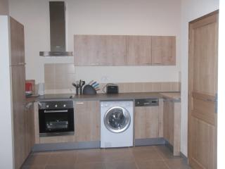 Fully fitted kitchen with all modern appliances including dishwasher.