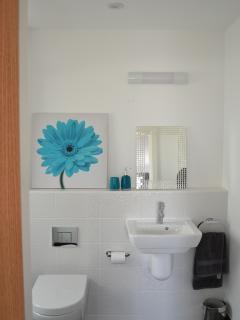 Ground floor en-suite high quality bathroom, underfloor heating, huge double shower.