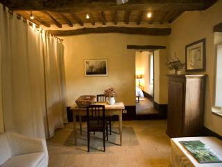 Cozy one bedroom apartment in Tuscan villa with pool, San Galgano Abbey, Siena.