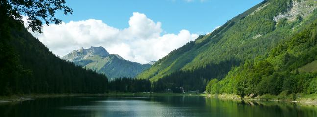 // River deep: Summer in Morzine, at Lac Montriond