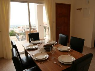 Comfortable spacious dining room with sea view