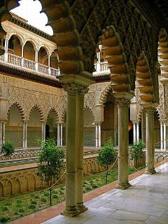 ALCAZAR (ROYAL PALACE). 3 minutes walk.