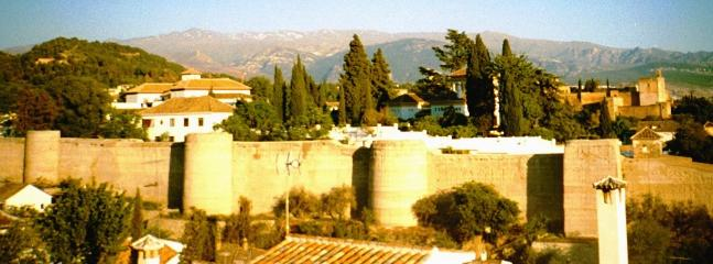 OLD ZIRI WALL OF GRANADA. Far away view of our back yard