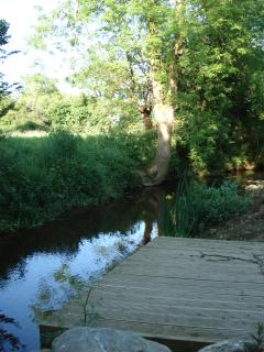 wooden platform at your river's bank, dip ur feet , float ur homemade boats!