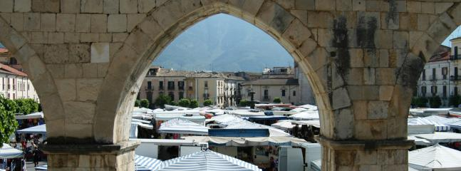 The twice weekly market in nearby Sulmona