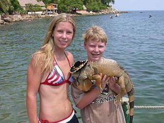 Friendly iguana in Yelapa