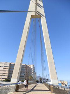The bridge crossing Fuengirola river