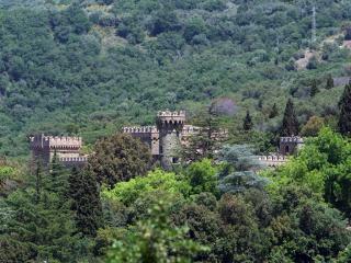 Borgia Castle on the Trasimeno lake at the border of Tuscany and Umbria