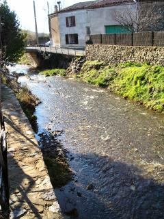 A little river runs next to our garden - beautiful in summer & ideal for exploring for the kids!