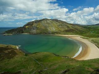 Beautiful, unspoilt Lenan beach 5 mins drive from house
