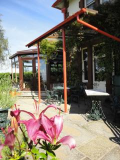 The patio ,ideal for BBQ's and pre dinner drinks