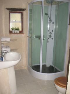 A large shower room