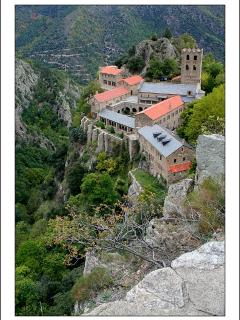 Enjoy a scenic walk up to the nearby abbey of St. Martin du Canigou