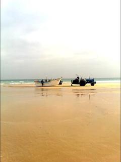 Fisherman's boat on beach